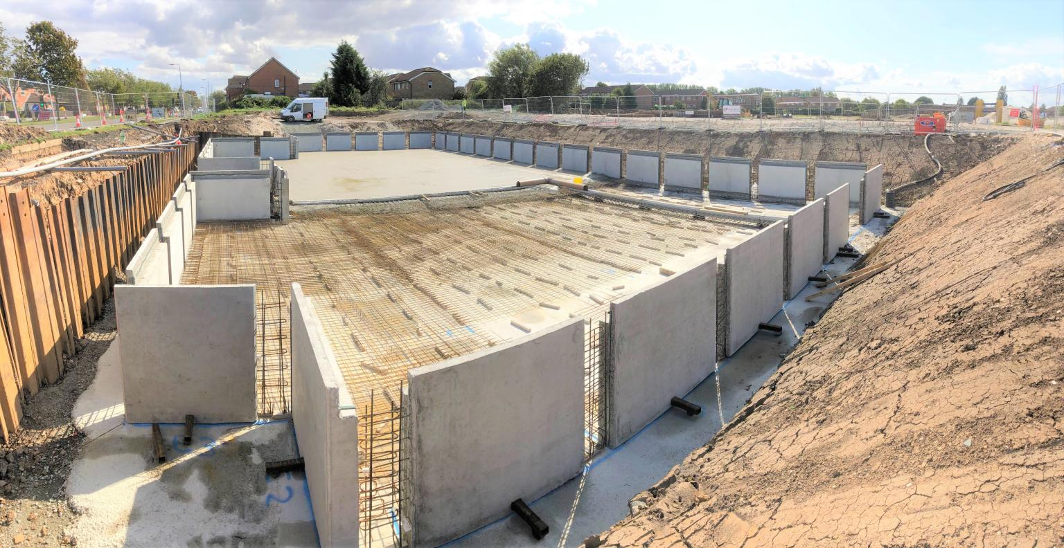 Carlow stormwater attenuation Tank installed at Grange Rd. Hull for Keepmoat Homes