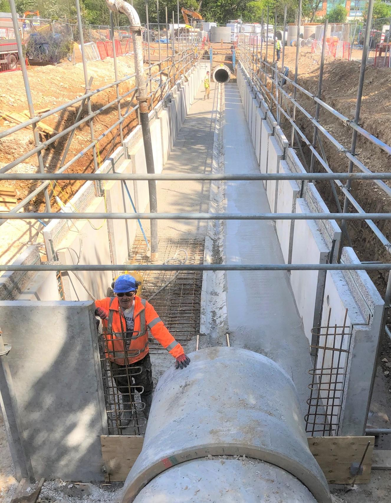 1.5m deep Carlow Concrete Culvert